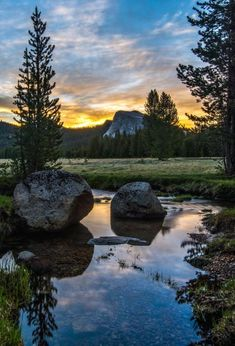 Tuolumne Meadows CA Sunrise - When you drive up to Yosemite, you come into Tuolumne meadows first. It's really beautiful.