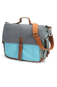 c6114fdbe290 Something Strong Canvas Messenger Bag in BlueGrey Postman Bag