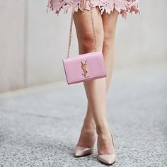 Pink is the symbolic color of ladies. That is why pink handbags are very famous among the ladies of every age whether women, youngsters or girls. Pink handbags are available in different sizes, sty… Pink Dress, Lace Dress, Dress Up, Rosa Style, Mode Rose, Pink Fashion, Womens Fashion, Fashion Outfits, Pink Handbags