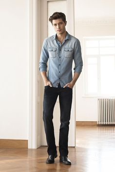 A great jean in a clean, indigo wash is a fall staple that'll keep on giving. Wear it with a light denim shirt and you've got a no-fuss, go-to outfit for fall | #menstyle