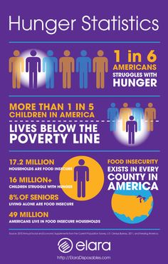 USA Hunger Statistics Infographic