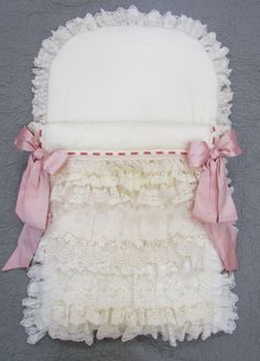 Baby nest with layers ans layers of lace
