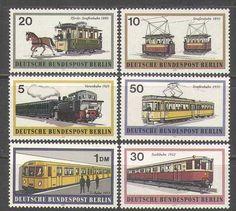 Germany B 1971 Trains Trams Underground Rail Steam Transport 6V SET N24995 | eBay