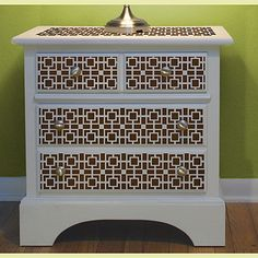 Moroccan Inspired Nursery - Stenciled Furniture Fronts