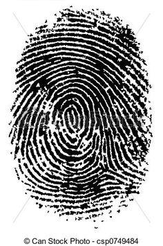 Drawing of FingerPrint 2 - Black and White Vector Fingerprint ...