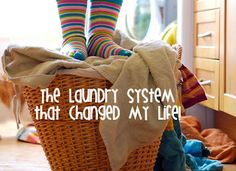 The Laundry system (tip) that changed her life-It's a good idea!