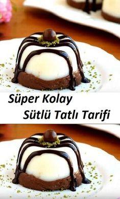 Super Easy Milky Dessert Recipe - new site Sweets Recipes, Easy Desserts, Cookie Recipes, Pudding Desserts, Cheap Meals, Easy Meals, Turkish Recipes, Cheesecake Recipes, Good Food