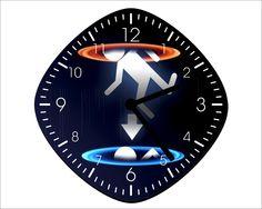 Portal Wall Clock - Half Life - Home Decor - Room Decoration Gift. $13.99, via Etsy.
