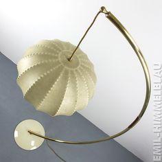 COCOON BOGEN LAMPE STEHLAMPE LEUCHTE VINTAGE 50er 60er MID CENTURY