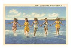 Belles baigneuses, Wrightsville Beach, Caroline du Nord