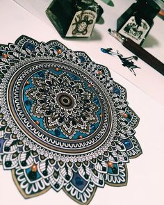 """Something a little different. #mandala - #murderandrose """