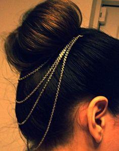 hair chain bun