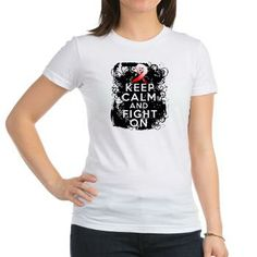 Aplastic Anemia Keep Calm Fight On shirts by gifts4awareness.com featuring a stand-out grunge design #aplasticanemia #aplasticanemiaawareness #aplasticanemiashirts