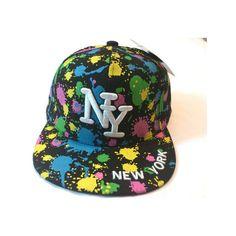 New Hot Hip Hop Boys Girls NY Splash Designer Snapback Flat Hat... ❤ 4c45bb9555d5
