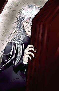 Undertaker<3 Black Butler Undertaker, Black Butler 3, Black Butler Anime, Ciel Phantomhive, Beautiful Green Eyes, Black Butler Characters, Another Anime, Fanart, Shinigami