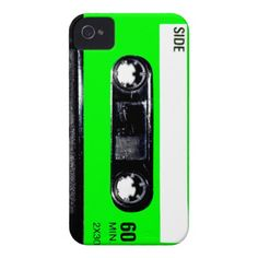 Lime Green Label Cassette iPhone 4 Cover