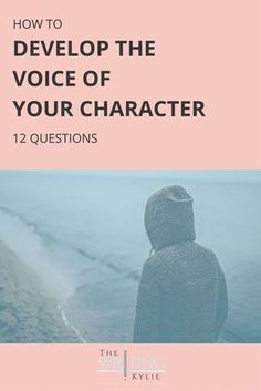 How to Develop the Voice of Your Character: 12 Questions — The Writing Kylie Creative Writing Tips, Book Writing Tips, Editing Writing, Writing Process, Fiction Writing, Writing Resources, Writing Help, Writing Skills, Writer Tips