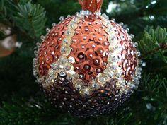Handmade christmas sequin bauble