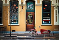 Old Town Pizza in northwest. Dine in the haunted, hundred-year-old building, or have your pie delivered via bicycle. #portland #oregon
