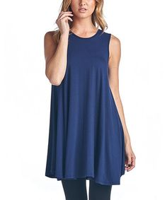 Another great find on #zulily! Navy Ruffle Swing Tank by Brooke & Emma #zulilyfinds