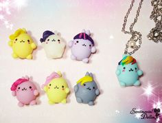 My Little Pony Necklace, MLP,  Kawaii Polymer Clay Charms, Friendship is Magic Jewelry, Kawaii Polymer Clay Charms