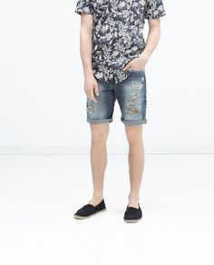 Image 3 of DENIM SHORTS from Zara