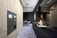 a very masculine kitchen design... YT 9 House by Igor Sirotov Architect
