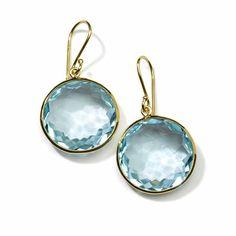 #Ippolita 18K #Gold Lollipop #Earrings in #BlueTopaz #BeGlamWithGold