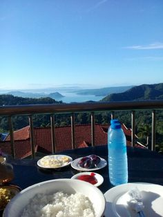 Breakfast with such majestic view of Taal Volcano