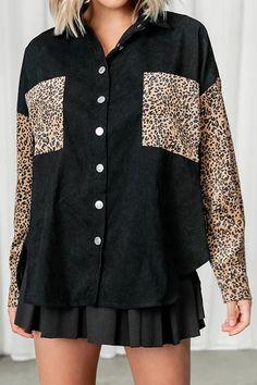 Motif Leopard, Cheetah Print, Casual Coats For Women, Mode Mantel, Printed Denim, Loose Shirts, Summer Dresses For Women, Casual Fall, Trends