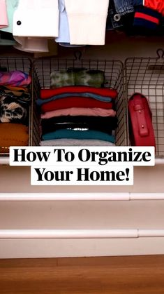 Home Organization Hacks, Organizing Your Home, Kitchen Organization, Bathroom Closet Organization, Organizing Ideas, Diy Crafts For Home Decor, Home Hacks, Hacks Diy, House Cleaning Tips