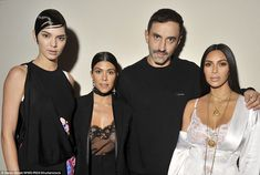 Own it! Kendall Jenner (left) owned Riccardo Tisci's show, sharing a picture with Kourtney and Kim afterwards