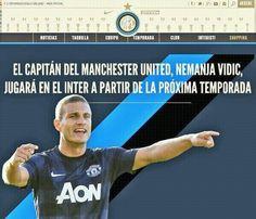 OFICIAL: Nemanja Vidic (Manchester United), nuevo futbolista del Inter de Milan. #SerieA