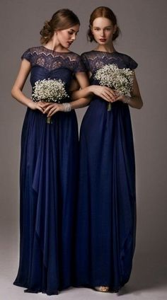 55 Elegant Navy And Gold Wedding Ideas | HappyWedd.com, Blue and Gold Weddings, Wedding Color Schemes, Blue Bridesmaid Dresses, Trending Wedding Colors of 2015 #navyweddings