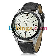 Unisex Round Dial Pu Band Quartz Analog Wrist Watch (Assorted Colors) : Online Shopping for Watches, Toys & more