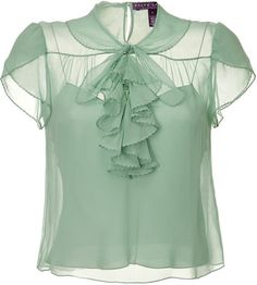 Seafoam Single Georgette blouse