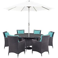 Convene 8 Piece Outdoor Patio Dining Set with Cushions Cushion Color: Espresso - http://diningsetspot.com/convene-8-piece-outdoor-patio-dining-set-with-cushions-cushion-color-espresso-631001931/