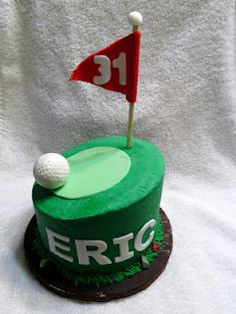 Ice Cream cake, carrot cake with vanilla ice cream.  Yellow cupcakes with chocolate chip cookie dough filling and triple chocolate fudge cupcakes. Which modeling chocolate golf balls.