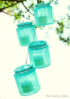 DIY-  Knockoff Hanging Jar Strand with candles
