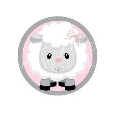 Papelaria digital rótulo tag adesivo ovelha