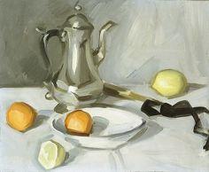 Samuel J. Peploe  Still Life with Silver Teapot  1904-06