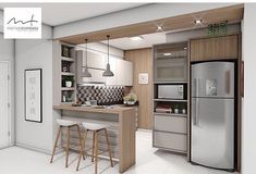 home deco idea Taupe Kitchen, Condo Kitchen, Home Decor Kitchen, Kitchen Interior, Home Kitchens, Kitchen Remodel, Living Room Partition Design, Room Partition Designs, Small Open Kitchens