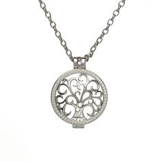 Celtic Interchangeable Disc pendant with 8 discs to collect from www.borujewelry.com