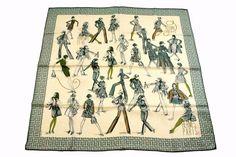 Auth HERMES Scarf 70cm 100% Silk PRINTEMPS ETE 69 AUTOMNE HIVER 70 Great 16474 #HERMES #Scarf70