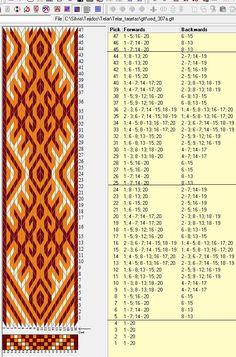 20 tarjetas, 3 colores, repite cada 20 movimientos // sed_307a diseñado en GTT༺❁