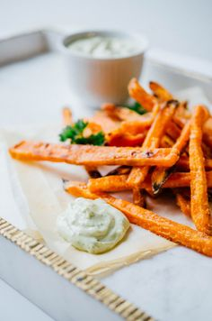 1.7k22135 It's Friday! And who ever decided Fridays should be pizza days? Fridays should be fry days! Like, deluxe, could-be-considered-a-meal fries. And okay, maybe these simple sweet potato fries can't quite be considered a meal in themselves. But did that stop me? No. Hard no. *Segues to blurb about my life at the moment*  You know why...Read More »
