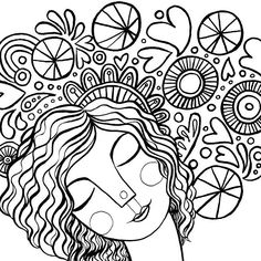 Detail from one of the pages from the Courageous Coloring book. For each copy purchased, another coloring workbook is given to girls in foster care. shop.makelovelythings.com