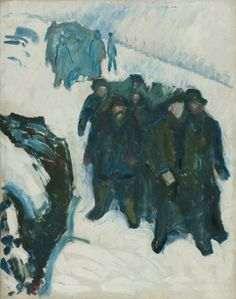 Edvard Munch - Sailors in the Snow, 1910/12                                                                                                                                                     More
