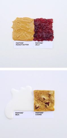 Pantone Food Pairings by David Schwen - Inspiration and Support for Women Makers, Artists and Creatives! Typography Design, Logo Design, Graphic Design, Food Typography, Design Art, Pantone Colour Palettes, Pantone Color, Grid Design, Food Art