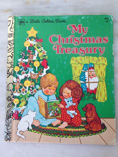 vintage Little Golden Book My Christmas Treasury LGB hardcover 1976 edition #144 by MotherMuse on Etsy